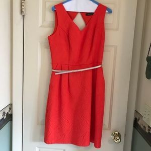 Ellen Tracy coral dress